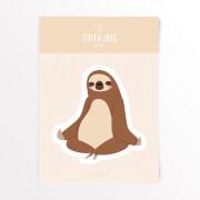Sloth Love Meditieren Vinyl Aufkleber