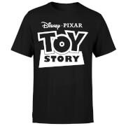 Toy Story Logo Outline Men's T-Shirt - Black