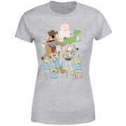 Toy Story Group Shot Dames T-shirt - Grijs