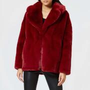 Diane von Furstenberg Women's Collared Jacket - Ruby - L - Red