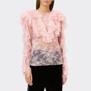 Philosophy di Lorenzo Serafini Women's Ruffle Frill Top - Pink - IT 40/UK 8 - Pink