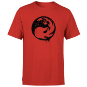 Magic The Gathering Red Mana Splatter Men's T-Shirt - Red