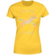 Unicorns Are Real Women's T-Shirt - Yellow