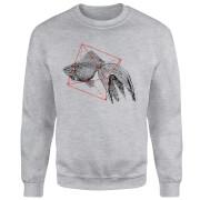 Fish In Geometry Sweatshirt - Grey