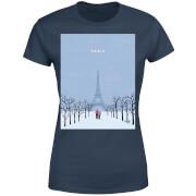 Paris Women's T-Shirt - Navy