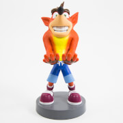 Figurine de support Cable Guy pour manette ou smartphone à collectionner – Crash Bandicoot – env. 20 cm