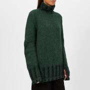 MM6 Maison Margiela Women's Polo Neck Knitted Jumper - Green/Black - M - Multi