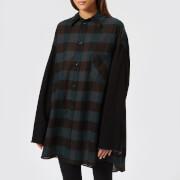 MM6 Maison Margiela Women's Oversized Shirt - Black-Green - IT 42/UK 10 - Multi