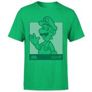 Nintendo Luigi Kanji Line Art Herren T-Shirt - Grün
