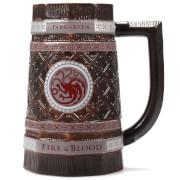 Game of Thrones Embossed Stein - Targaryen