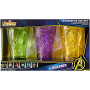 Meta Merch Marvel Infinity Stone Glasses - The Hulk, Thor and Groot