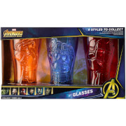 Meta Merch Marvel Infinity Stone Glasses - Iron Man, Captain America and Iron Spider