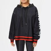 NO KA'OI Women's Huha Long Sleeve Top - Jeans/Red - L - Black