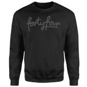 How Ridiculous Forty Four Script Sweatshirt - Black