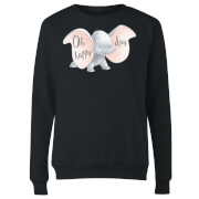 Dumbo Happy Day Damen Pullover - Schwarz