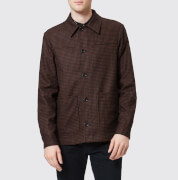 PS Paul Smith Men's Checked Work Jacket - Brick - L - Brown