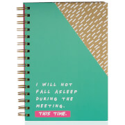 Notes to Self I Will Not Fall Asleep Notebook