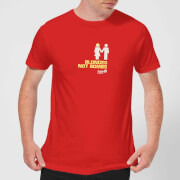 Plain lazy blonds not bombs mens t shirt red m rouge