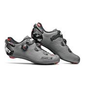 Sidi Wire 2 Carbon Matt Road Shoes - Matt Grey/Black - EU 44 - Matt Grey/Black