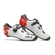 Sidi Wire 2 Carbon Road Shoes - White/Black/Red - EU 45.5 - White/Black/Red