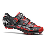 Sidi Eagle 7 SR MTB Shoes – Black/Black/Red – EU 47 – Black/Black/Red