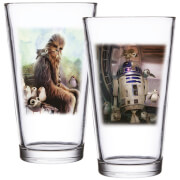 Funko Homeware Star Wars: The Last Jedi Set of 2 Pint Glasses - Chewbacca & R2-D2