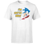 Sonic The Hedgehog I'm Outta Here Herren T-Shirt - Weiß
