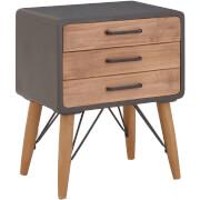 Premier Housewares Trinity 2 Drawer Side Cabinet - Fir Wood/Iron