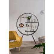 Premier Housewares Trinity Round Shelf Unit - Fir Wood/Metal