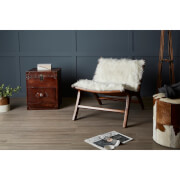 Fifty Five South Inca Teak Chair - Faux Fur