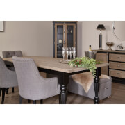 Fifty Five South Kensington Townhouse Dining Table - Oak Top/Antique Black