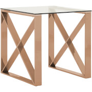 Fifty Five South Allure End Table - Rose Gold