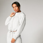 Revive Cropped Hoodie - Graumeliert