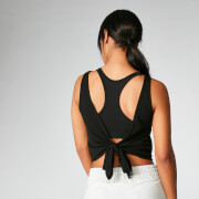 Tie-Up Vest - Black