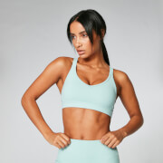 Power Mesh Sports Bra - Seafoam