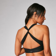 Power Cross Back Sports Bra - Schwarz