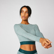 Inspire Seamless Crop Top - Teal