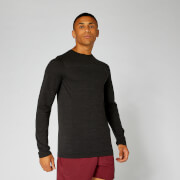 Lightweight Seamless Long-Sleeve T-Shirt - Black Marl