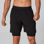 Dubbellaagse Power Shorts - Black