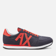 Armani Exchange Men's AX Logo Runner Style Trainers - Navy/Red
