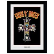 Guns N' Roses Cross Framed 20 x 27 Inches Print