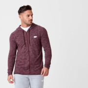 Performance Zip Top - Burgandy Marl
