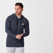 Performance Zip Top - Navy Marl