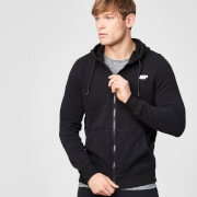 Tru-Fit Zip Up Hoodie - Black