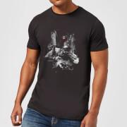 Star Wars Boba Fett Distressed Men's T-Shirt - Black