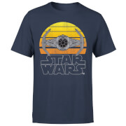 Star Wars Sunset Tie Men's T-Shirt - Navy