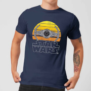 T-Shirt Homme Sunset Tie Star Wars Classic - Bleu Marine