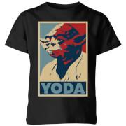 Star Wars Yoda Poster Kids' T-Shirt - Black