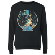 Star Wars Classic Vintage Victory Damen Pullover - Schwarz