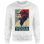 Star Wars Yoda Poster Sweatshirt - White